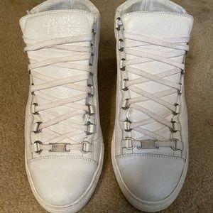 Balenciaga Men's Arena Leather High-Top Sneaker